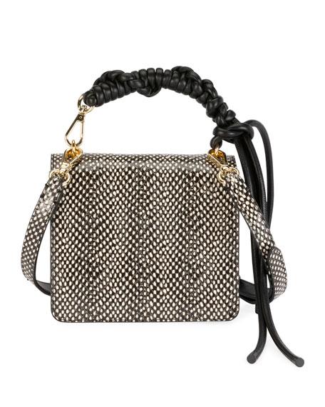 Dries Van Noten Snake Patterned Top-Handle Crossbody Bag