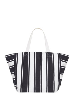 Seafolly Canvas Striped Tote Bag