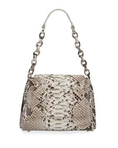 Medium Flap Shoulder Bag With Weave