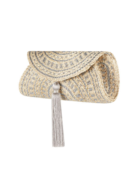 Image 2 of 3: Flora Bella Navagio Hand-Woven Beach Clutch Bag