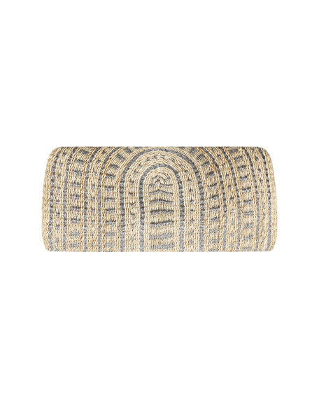 Image 3 of 3: Flora Bella Navagio Hand-Woven Beach Clutch Bag