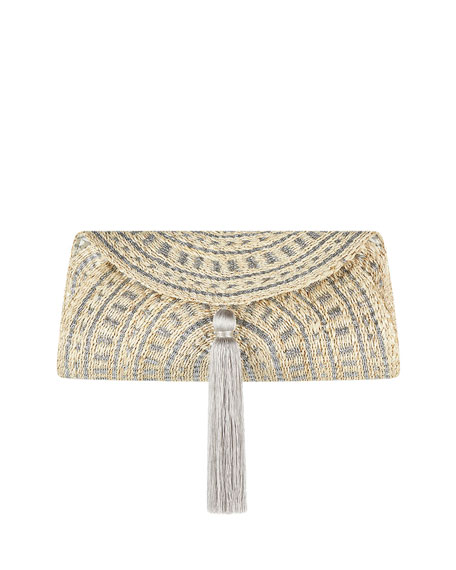 Image 1 of 3: Flora Bella Navagio Hand-Woven Beach Clutch Bag