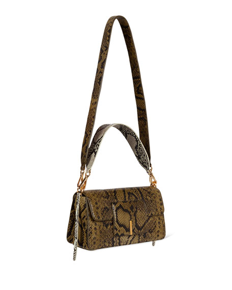 Wandler Georgia Python-Print Shoulder Bag