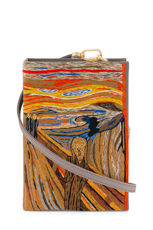 Olympia Le-Tan The Scream Book Clutch Bag