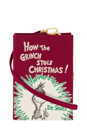 Olympia Le-Tan How the Grinch Stole Christmas Book Clutch Bag