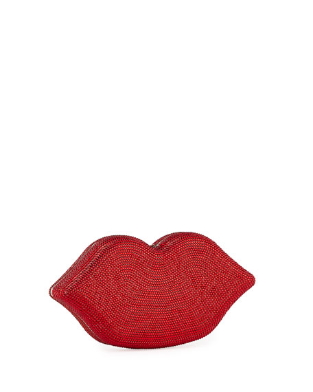 Judith Leiber Couture Hot Lips Crystal Clutch Bag