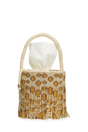 Sensi Studio Mini Straw Top Handle Basket Tote Bag