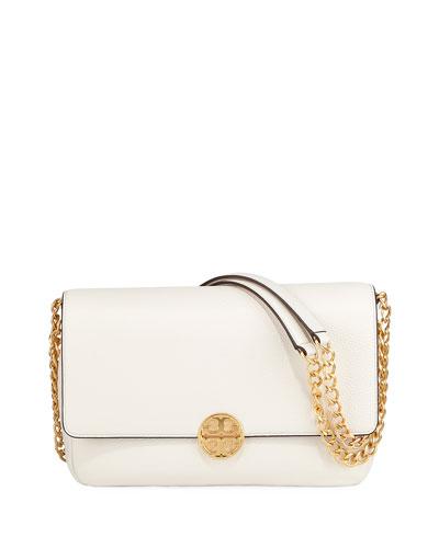Chelsea Chain-Strap Leather Shoulder Bag