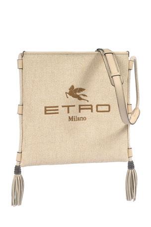 Etro Eivissa Large Logo Tassel Crossbody Bag