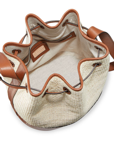 Image 2 of 4: Hunting Season Large Bicolor Drawstring Bucket Bag