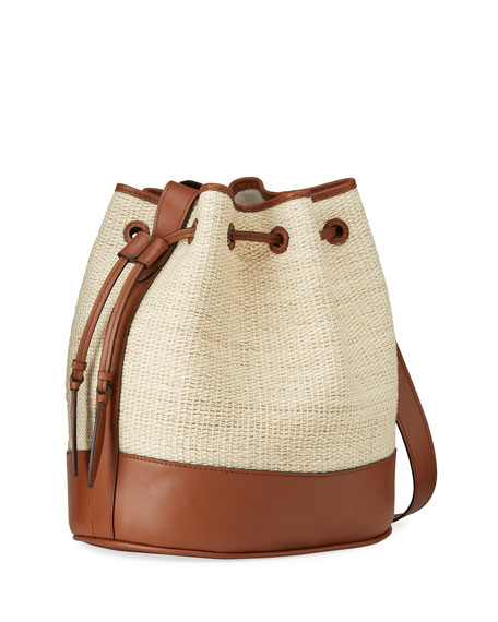 Image 3 of 4: Hunting Season Large Bicolor Drawstring Bucket Bag