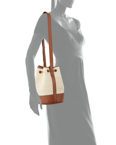 Image 4 of 4: Hunting Season Large Bicolor Drawstring Bucket Bag