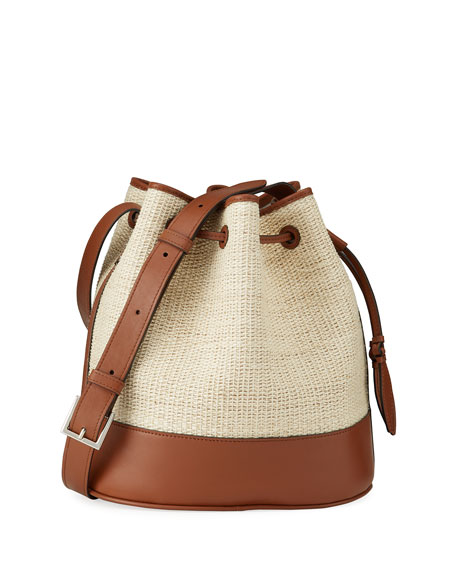 Image 1 of 4: Hunting Season Large Bicolor Drawstring Bucket Bag