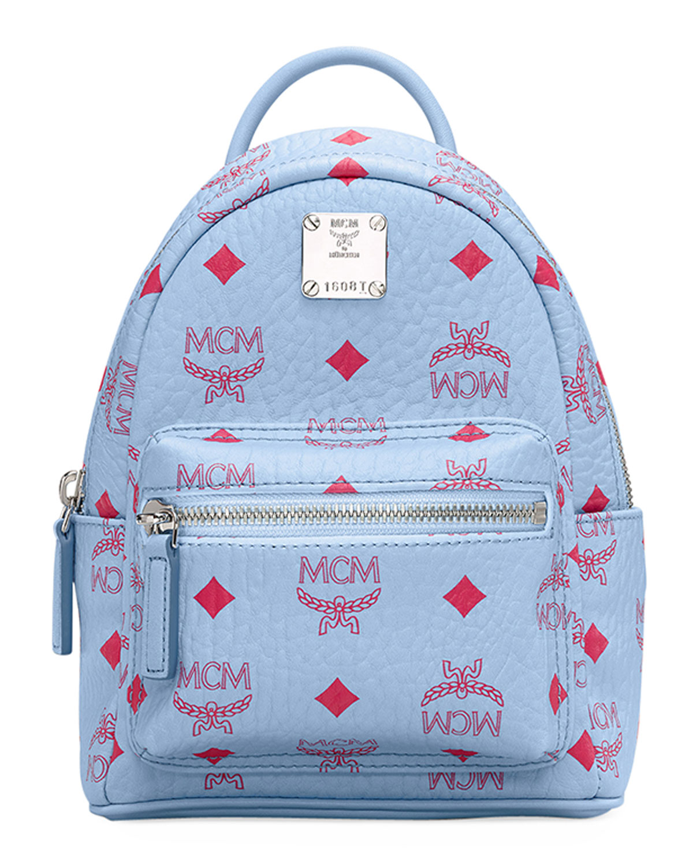 Mcm Stark Monogrammed Logo Backpack Neiman Marcus