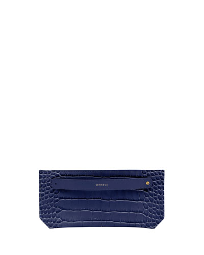 Mock-Croc Bracelet Zip Pouch Bag