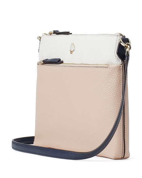 Image 3 of 3: kate spade new york polly medium bicolor leather crossbody bag