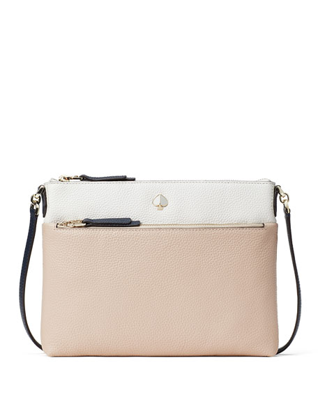 Image 1 of 3: kate spade new york polly medium bicolor leather crossbody bag