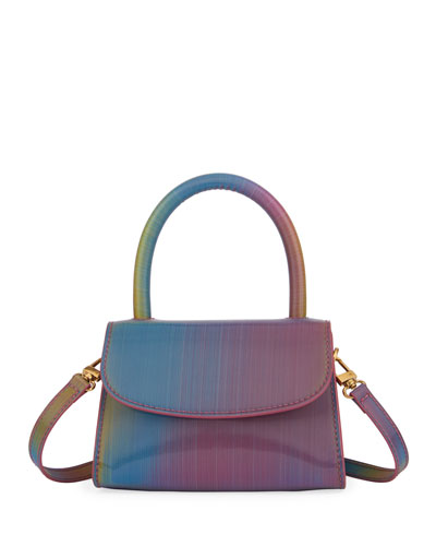 Mini Rainbow Leather Top-Handle Bag