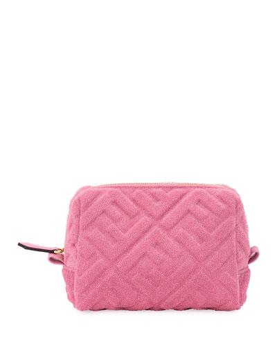 1974 FF-Embossed Sponge Fabric Cosmetics Case