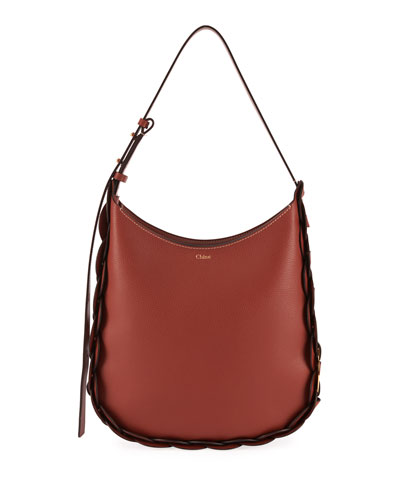 Darryl Medium Leather Hobo Bag
