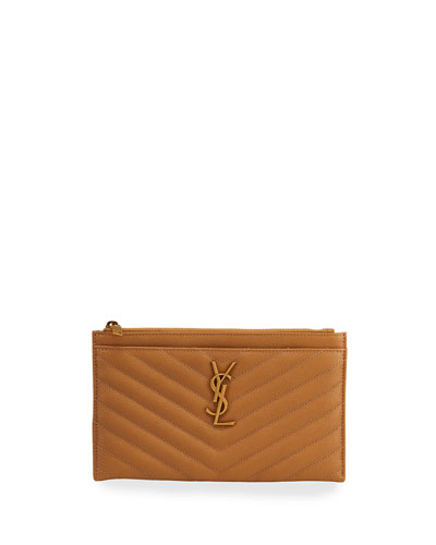 Monogram YSL Grain de Poudre Bill Pouch Wallet