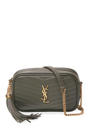 Saint Laurent Lou Mini Monogram YSL Quilt Calf Camera Bag
