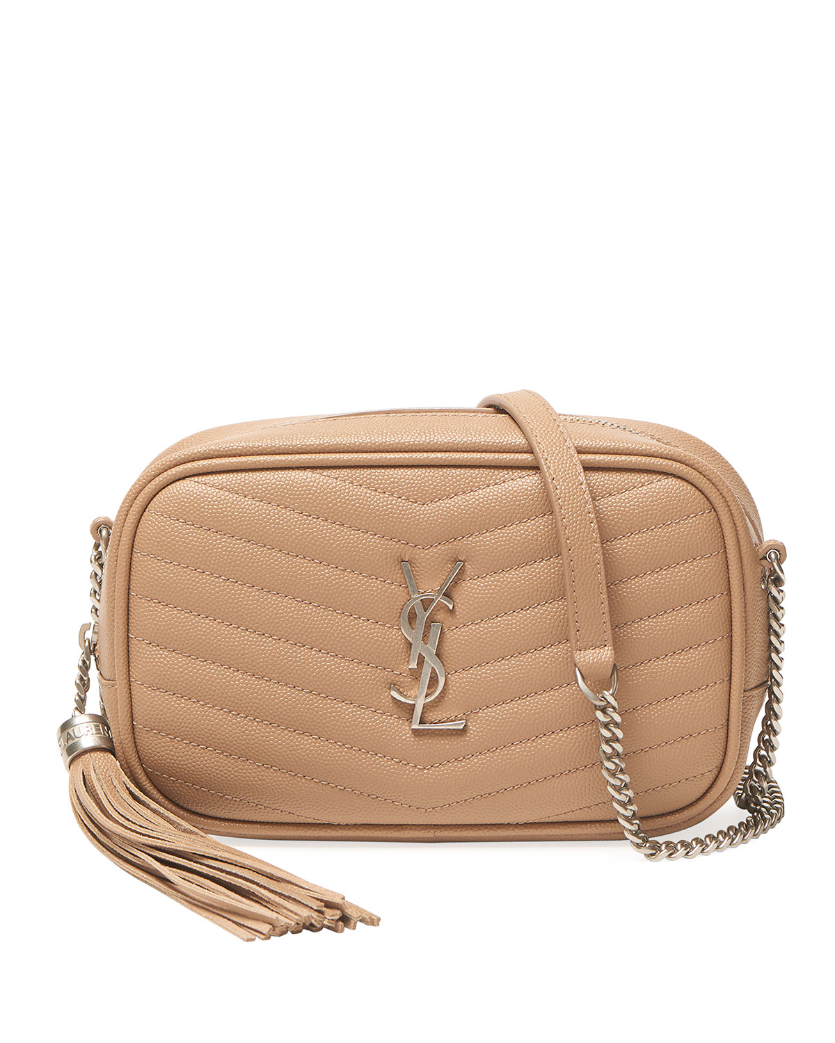 Saint Laurent Lou Mini Monogram Ysl Croco Camera Bag