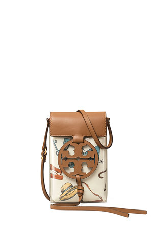Tory Burch Miller Clear Printed Medallion Crossbody Phone Bag