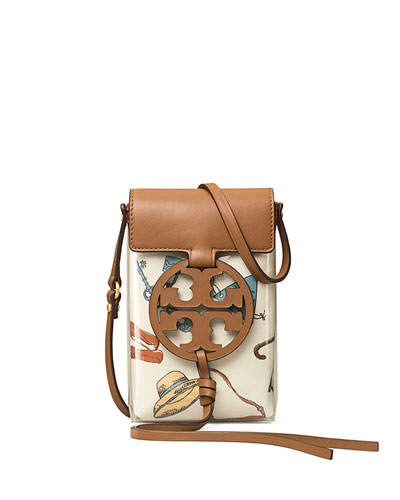 Miller Clear Printed Medallion Crossbody Phone Bag