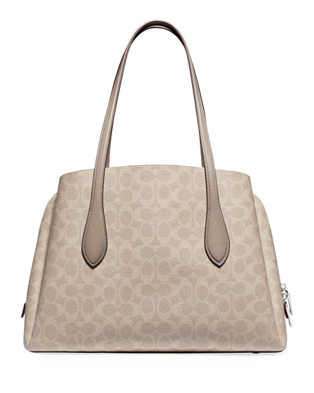 Image 3 of 4: Coach 1941 Lora Coated Canvas Signature Carryall Bag