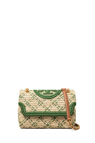 Tory Burch Fleming Small Soft Straw Convertible Shoulder Bag