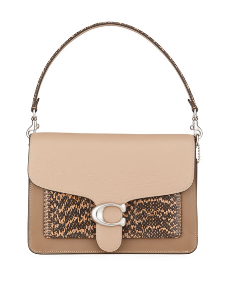 Image 1 of 4: Coach 1941 Tabby Colorblock Mixed Leather Shoulder Bag with Exotic Pocket
