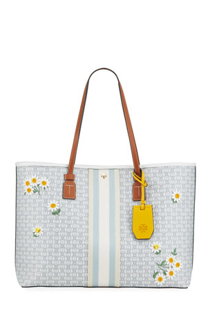 Tory Burch Gemini Link Canvas Applique Tote Bag