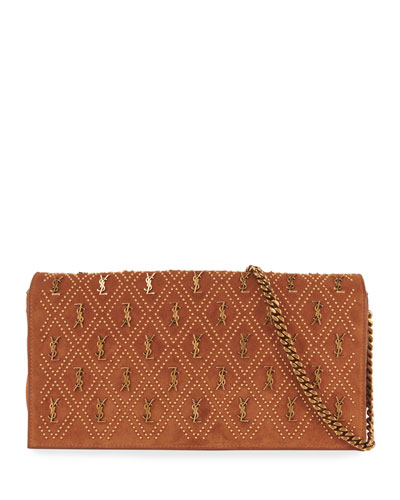 Kate YSL Studded Suede Shoulder Bag