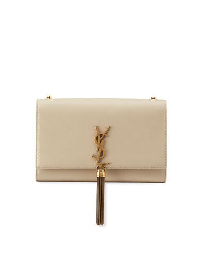 Kate Monogram YSL Medium Leather Chain Tassel Shoulder Bag