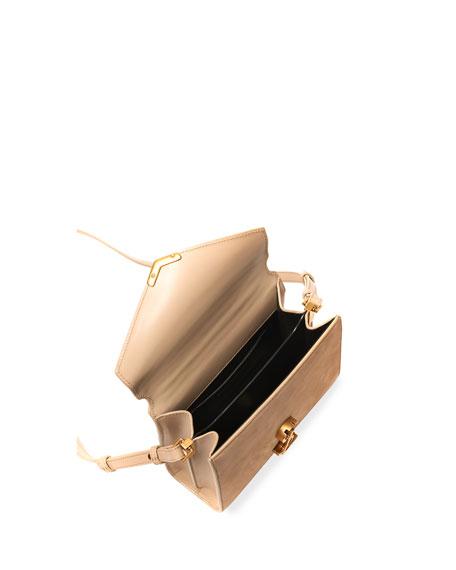 Saint Laurent Cassandre Mini Monogram YSL Suede/Leather Top-Handle Bag