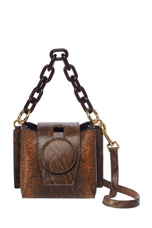 Yuzefi Daria Snake-Print Leather Shoulder Bag