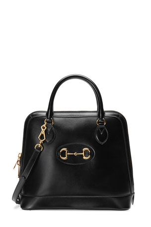 Gucci 1955 Horsebit Medium Leather Top-Handle Bag