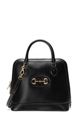 Gucci 1955 Horsebit Medium Leather Top-Handle Bag