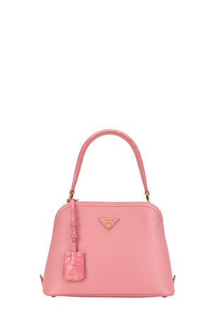 Prada Matinee Small Top-Handle Satchel Bag with Crocodile Detail