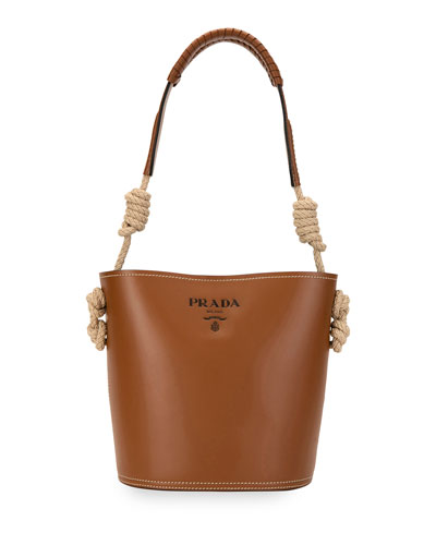 City Knotted Rope Bucket Bag