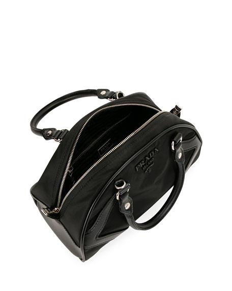 Prada Tessuto Nylon & Leather Bowling Bag