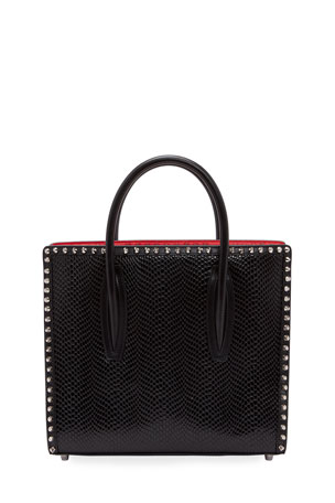 Christian Louboutin Paloma Small Jurassic Calf Spikes Top-Handle Bag