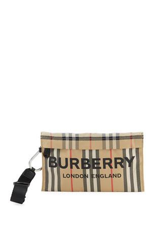 Burberry Heritage Stripe Wristlet Bag