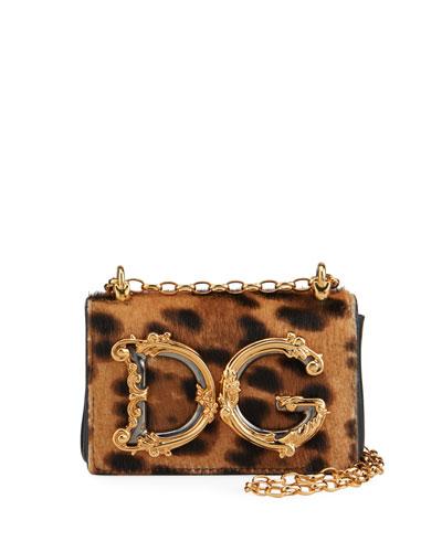 Mini Barocco Leopard Shoulder Bag