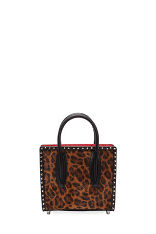 Christian Louboutin Paloma Small Kitty Calf E Spikes Top-Handle Bag
