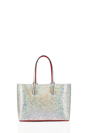 Christian Louboutin Cabata Small Metallic Tote Bag