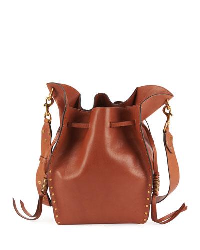 Taj Leather Bucket Bag