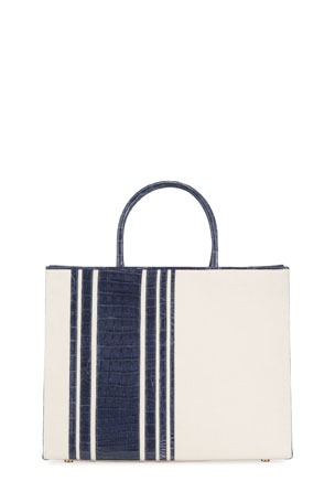 Nancy Gonzalez Emma Medium Stripe Crocodile Tote Bag