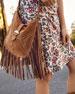 Isabel Marant Usko Fringe Saddle Shoulder Bag
